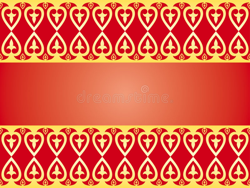Download Golden hearts ornament stock vector. Image of affection - 7969466