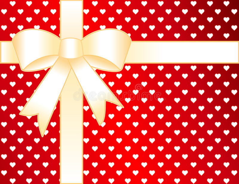 golden hearts present stock illustrationer