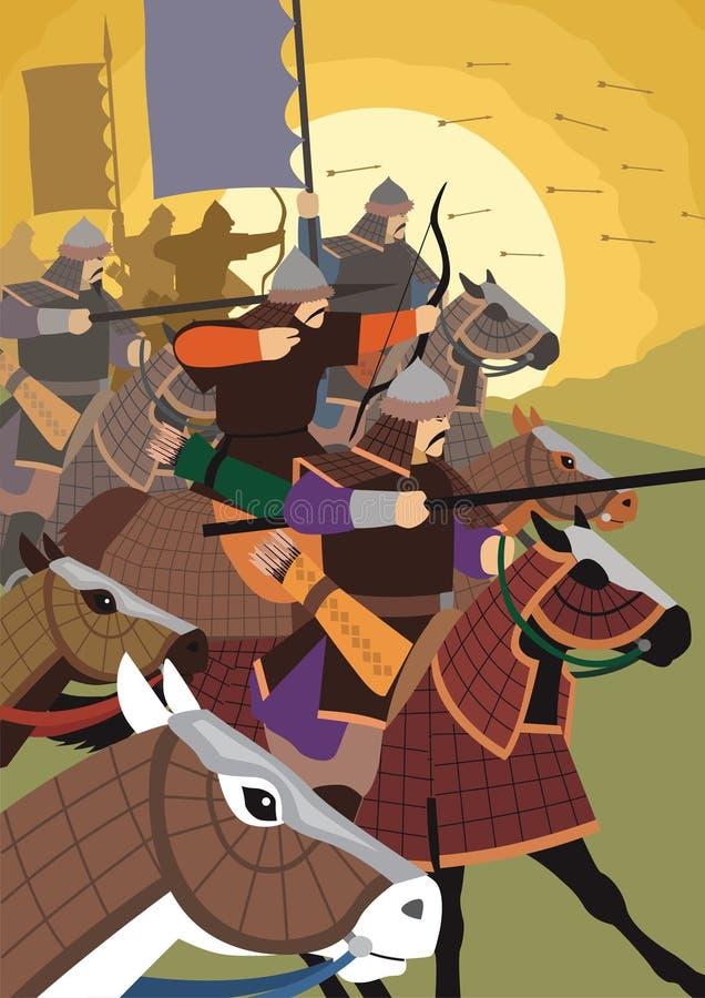 The Golden Horde royalty free illustration
