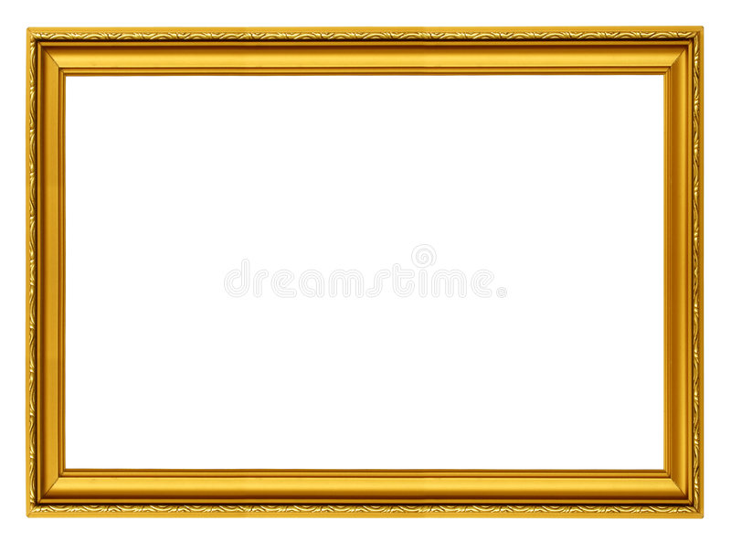 Golden horizontal frame stock photos