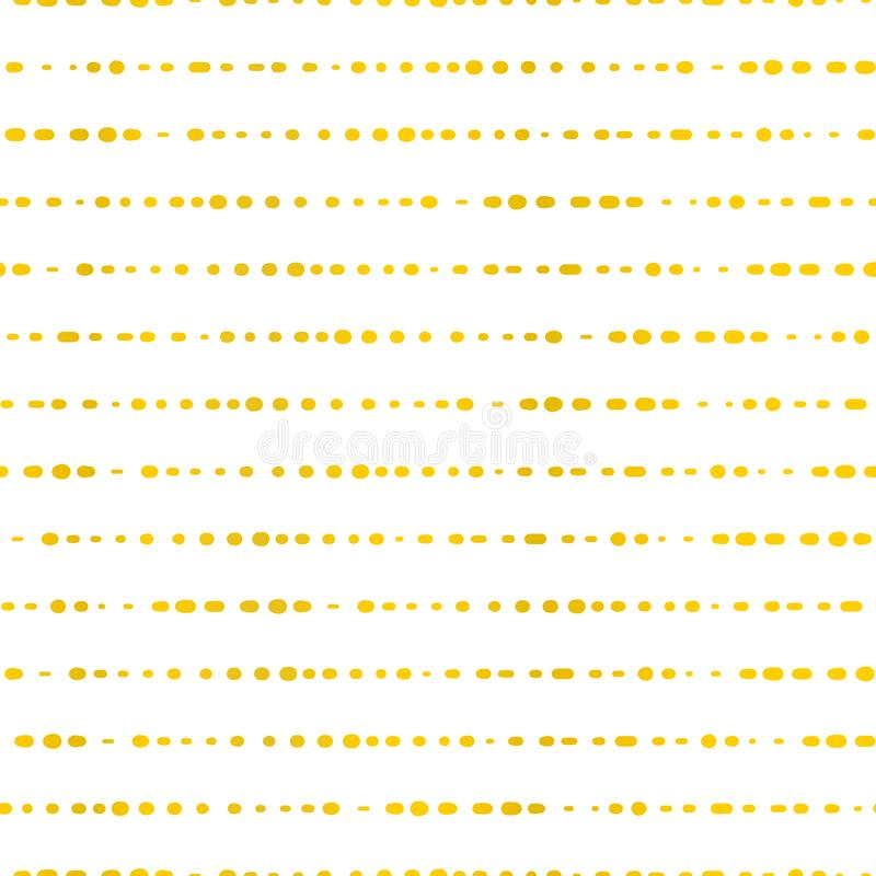 Golden horizontal lines dotted. Seamless vector background. Classic and elegant gold foil on white texture. Great for weddings, vector illustration