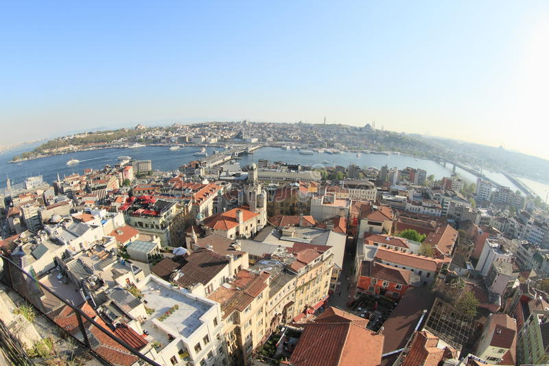 Golden Horn Bay in Istanbul royalty free stock photography