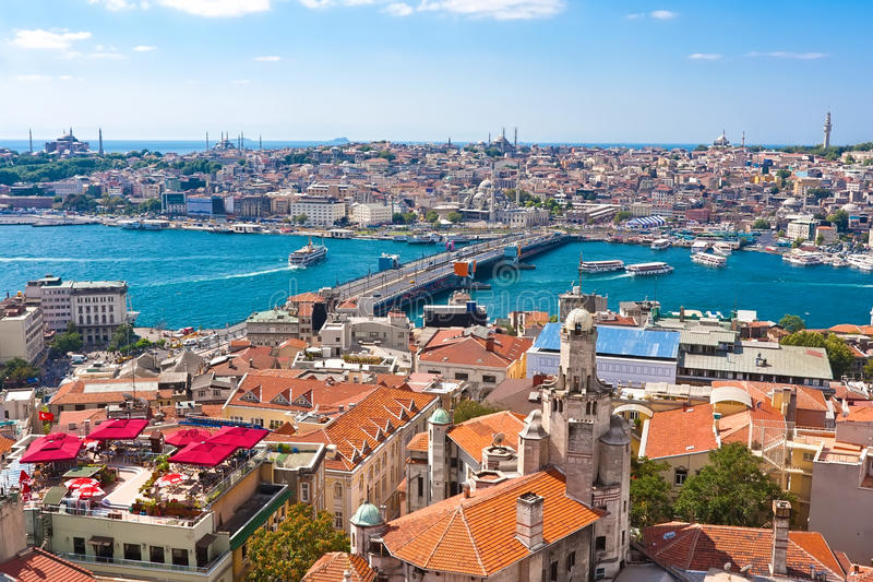 Golden Horn in Istanbul royalty free stock photography