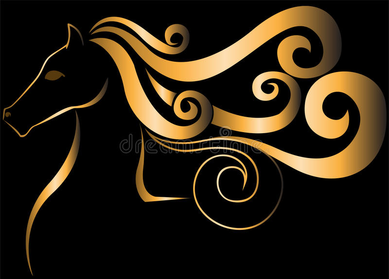 Download Golden Horse stock vector. Image of mare, illustration - 20106050