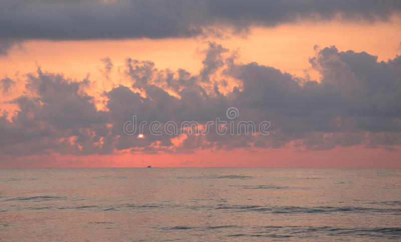 Golden hour on the beach. Ideal image to use as background. royalty free stock photography