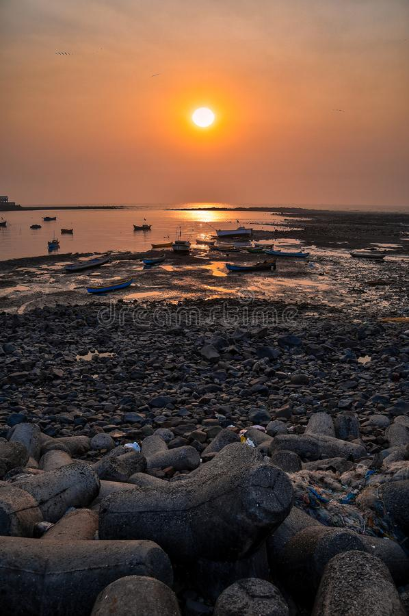 Golden Hour Photo of Seashore stock photography