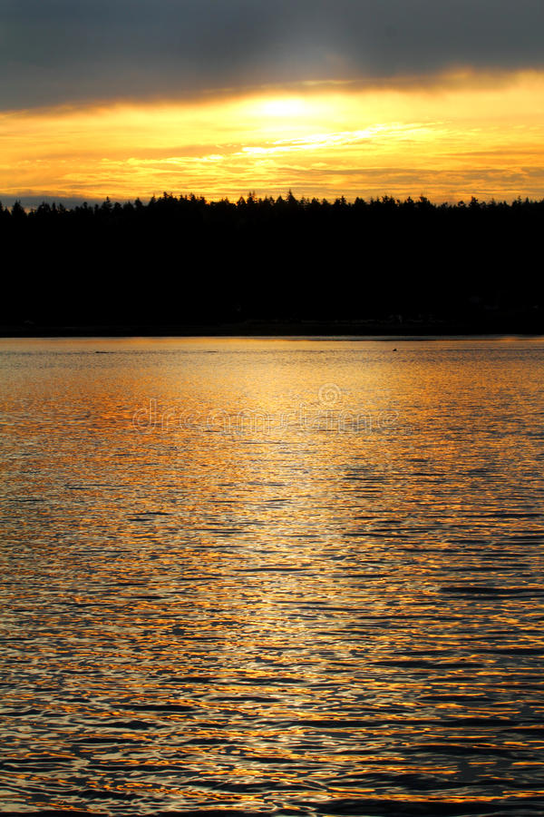 Golden Hour On Water stock photos