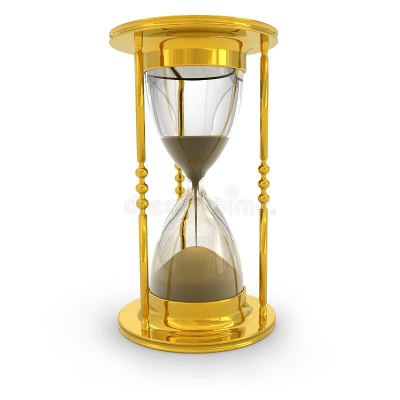 Golden hourglass stock illustration