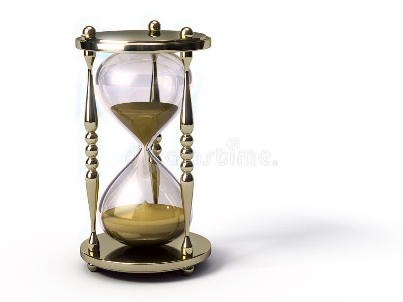Golden hourglass vector illustration