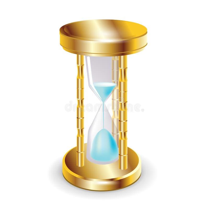 Golden hourglass royalty free illustration