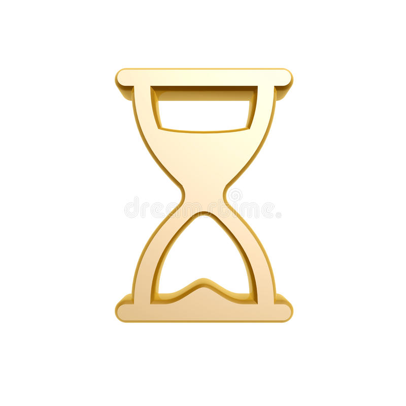 Golden Hourglass Symbol Stock Photos