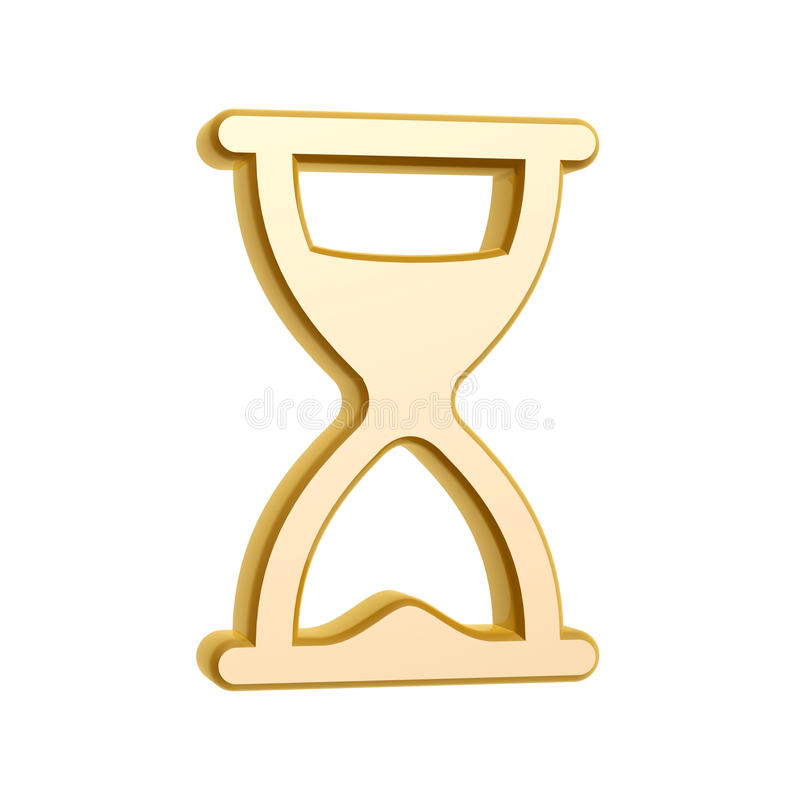 Download Golden hourglass symbol stock illustration. Image of icon - 29867002