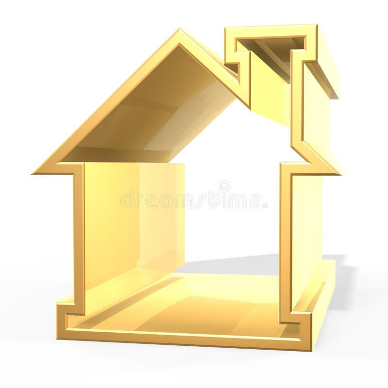 Golden house vector illustration