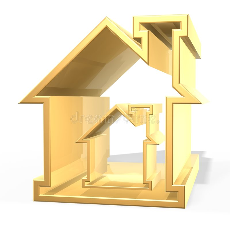 Golden house vector illustration