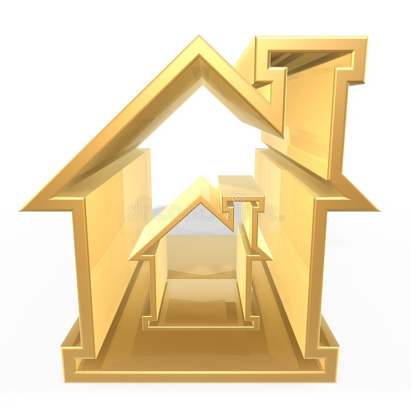 Golden house stock illustration
