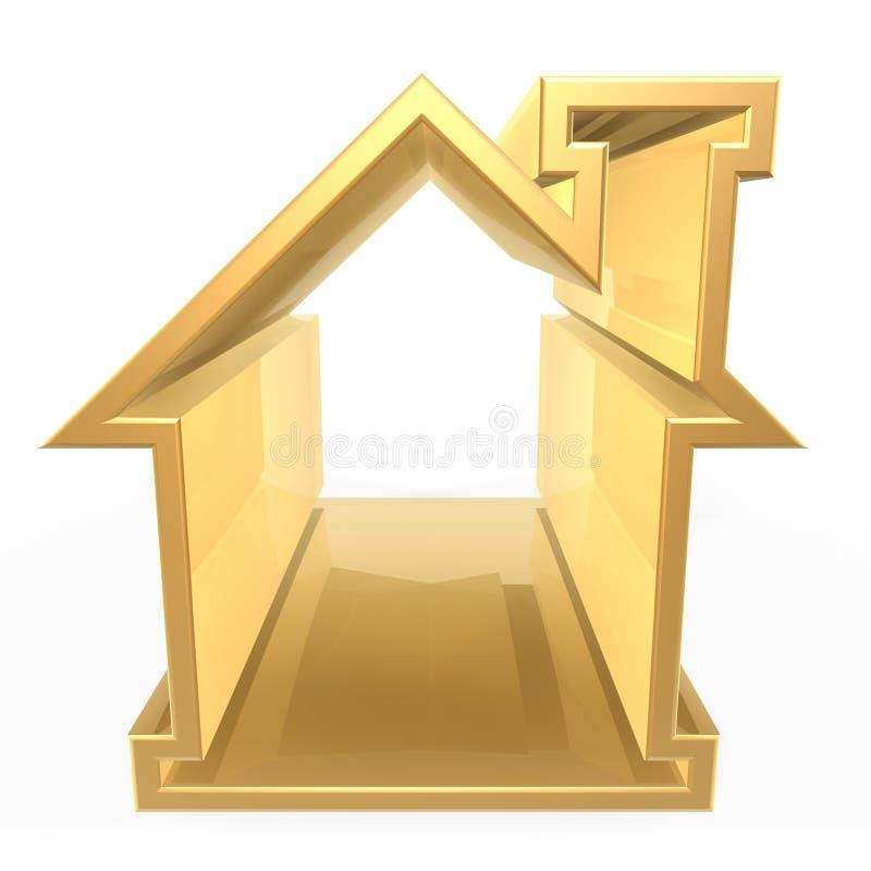 Golden house stock illustration