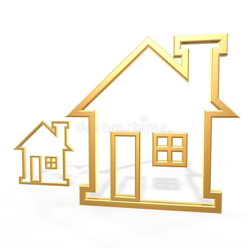 Golden houses royalty free illustration