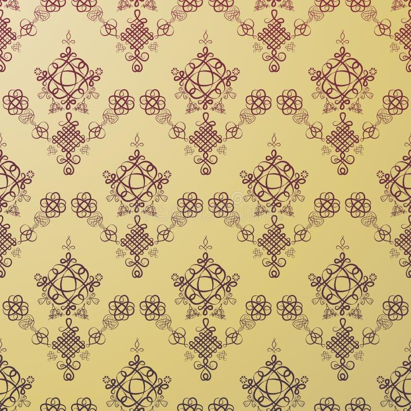 golden hun pattern seamless ελεύθερη απεικόνιση δικαιώματος
