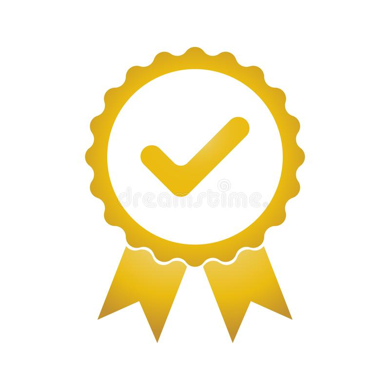 Approved or certification icon stock illustration