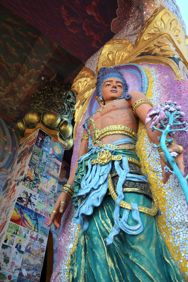 Download Golden idol statues stock image. Image of statuesthai - 83702135