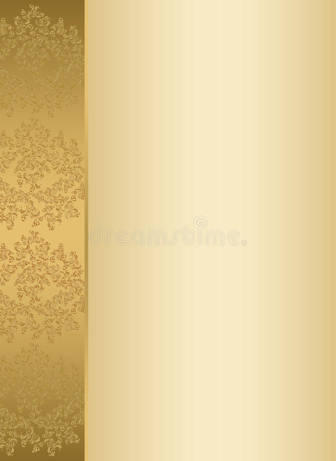 Golden Invitation Card Template Stock Illustration