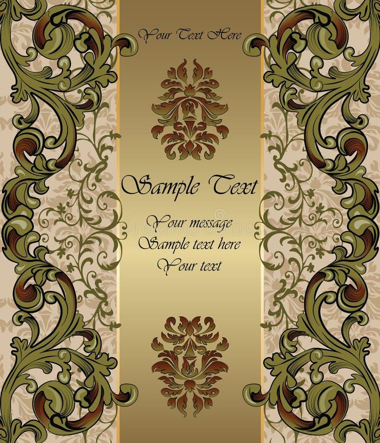 Golden Invitation card stock illustration