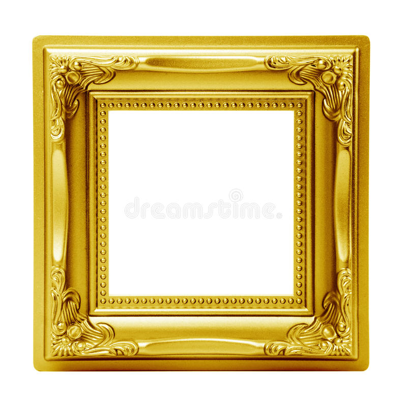 Download Golden Isolated Picture Frame Stock Image - Image: 16815381