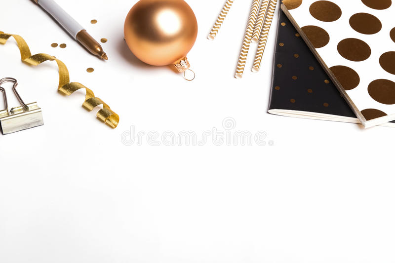Golden ittle things. Isolated on white background royalty free stock photos