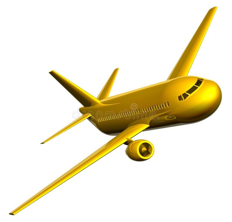 Golden Jet stock illustration