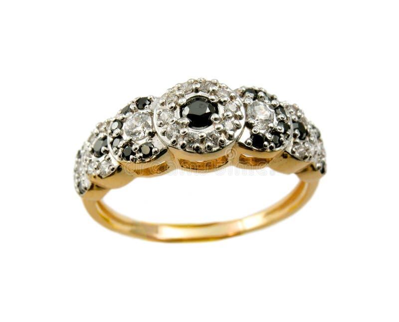 Golden jewelry stock image