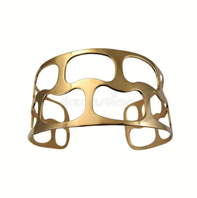 Golden jewelry royalty free stock photo