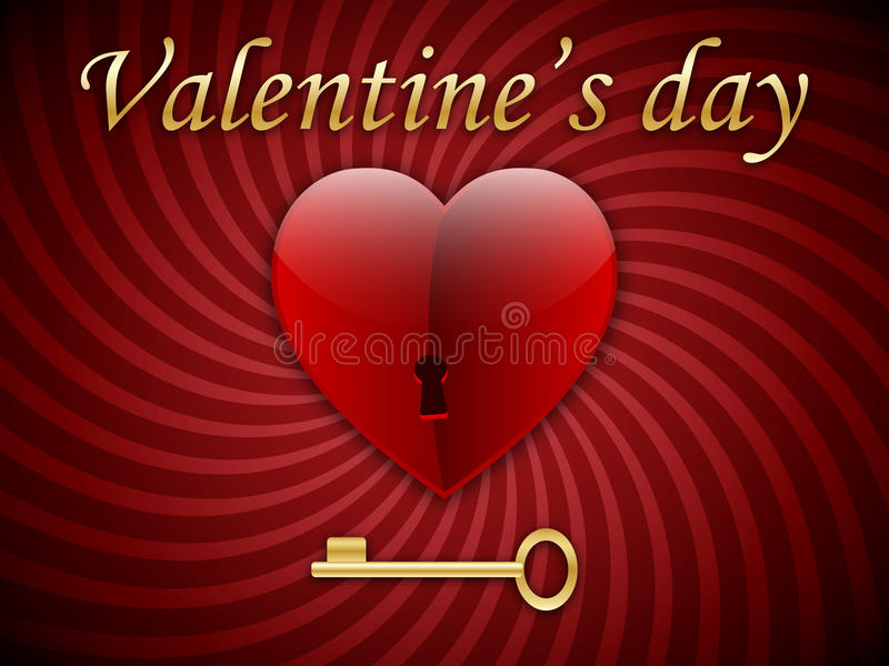 Golden key from the heart