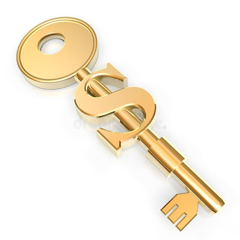 Download Golden key to money stock photo. Image of sign, escape - 2388218