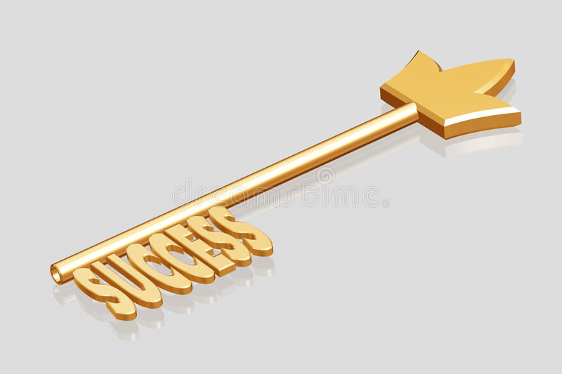 Download Golden Key To Success Royalty Free Stock Photography - Image: 18376327