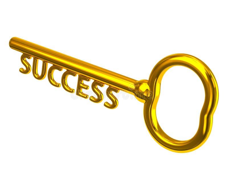 Golden key to success. Illustration of golden key to success vector illustration