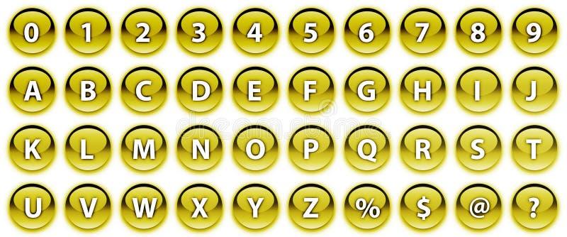 Golden keyboard buttons