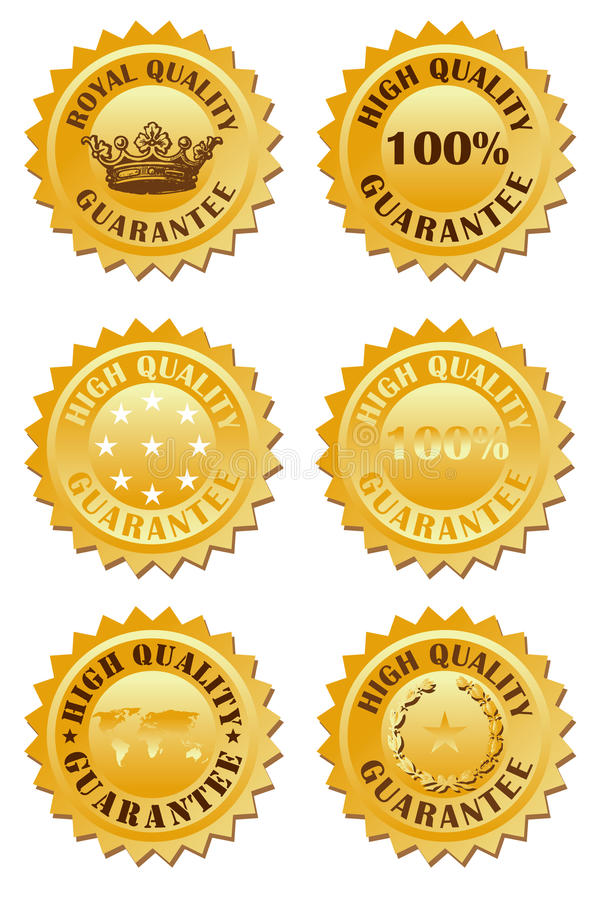 Golden label. Vector illustration of golden high quality label vector illustration
