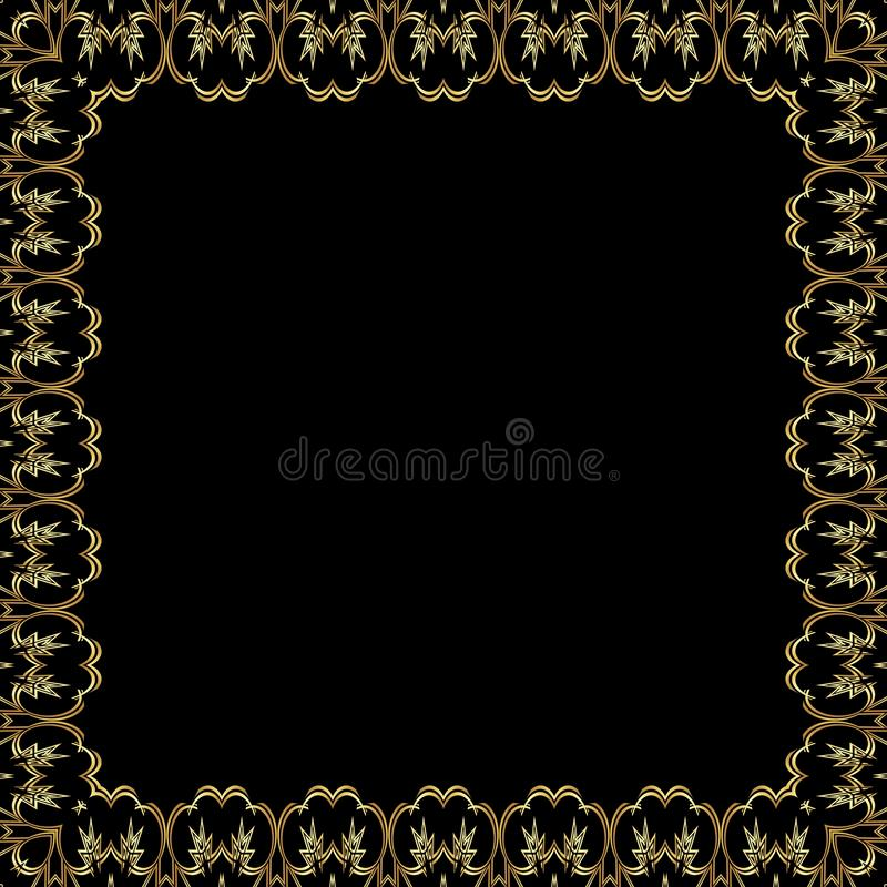 Golden lace pattern stock illustration