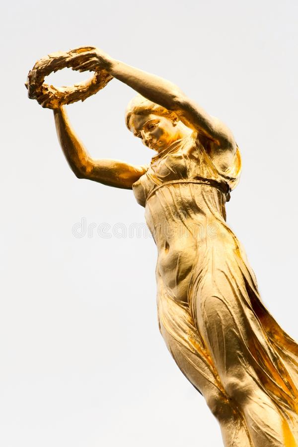 The Golden Lady of Luxembourg. A Monument of Remembrance in Luxembourg City, raised in memory of all Luxembourg soldiers who died for their country in the royalty free stock photos