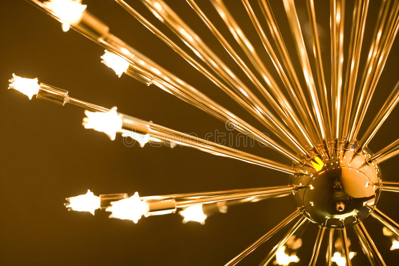 Download Golden Lamp With Bulbs Stock Photos - Image: 2386623