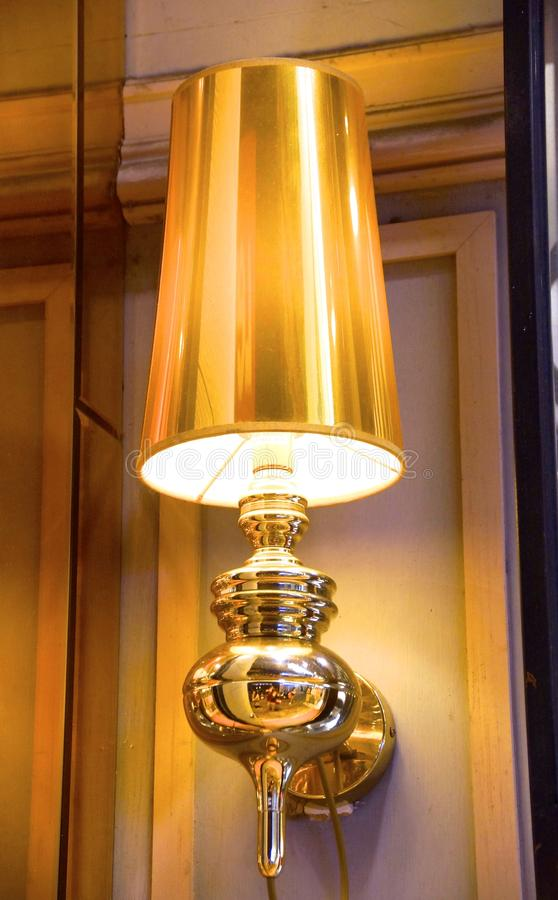 Golden lamp royalty free stock images