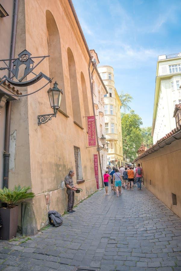 The Golden Lane - Prague stock image