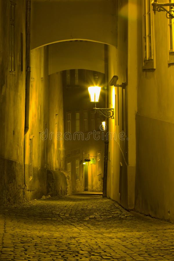 The Golden Lane, Prague, Czech republic stock photos