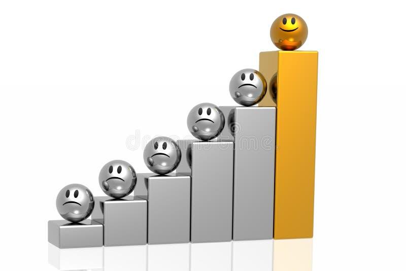 Golden leader of business stock illustration