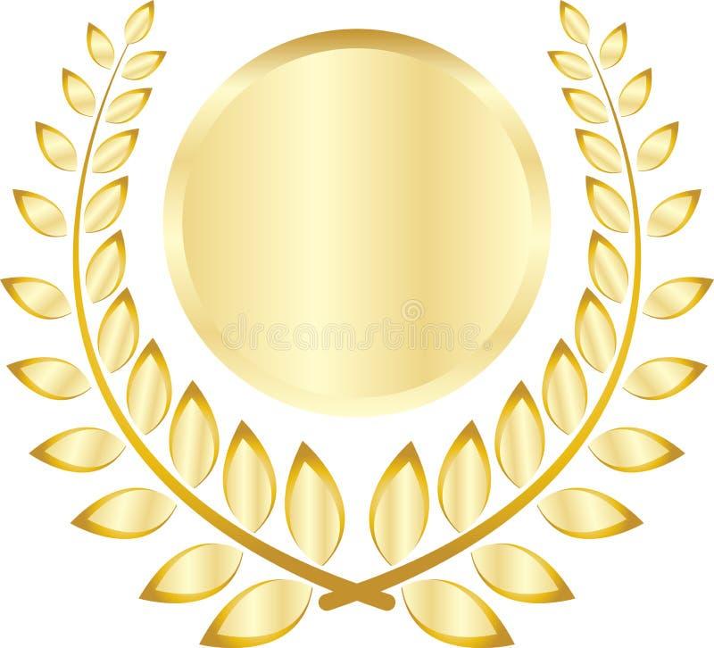 Golden leaf crest royalty free illustration