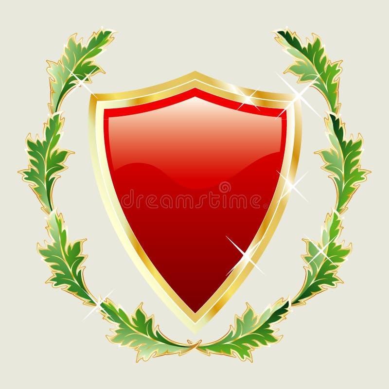 Download Golden leaves stock vector. Illustration of emblem, heraldry - 6862926