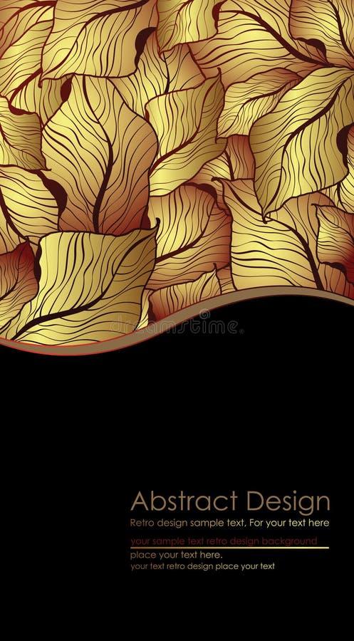 Golden leaves vector illustration