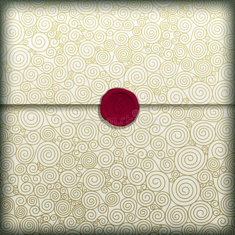 Golden Letter royalty free illustration