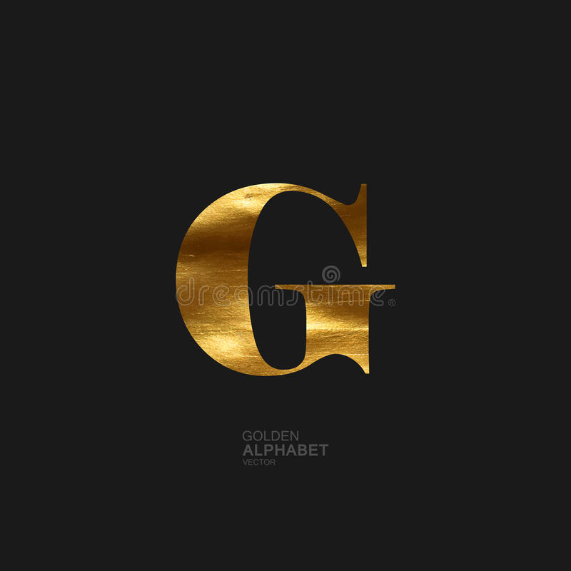 Golden letter G royalty free illustration