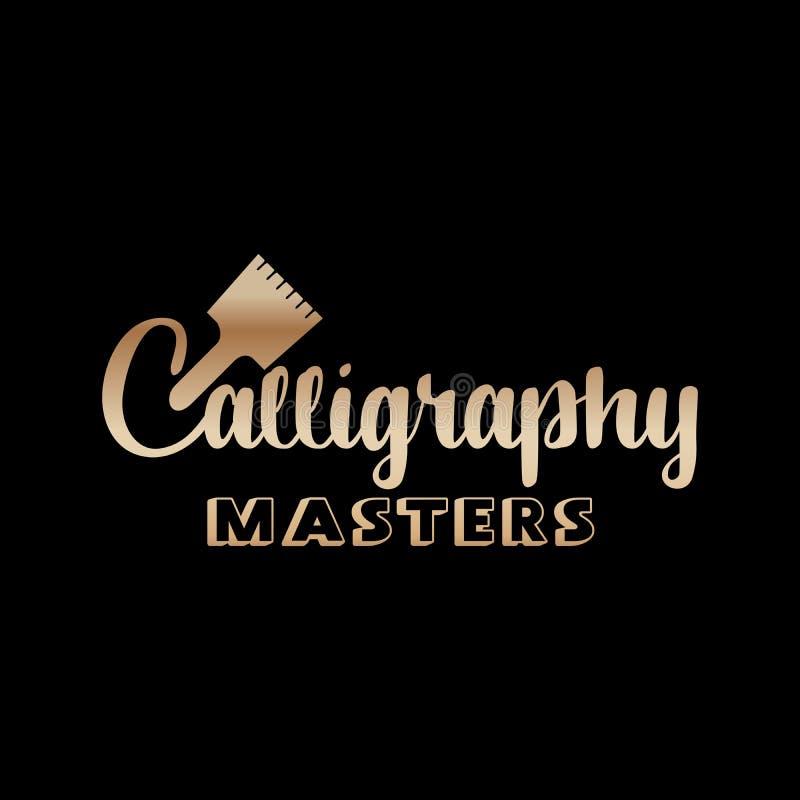 Golden Lettering logo design for Art company royalty free illustration